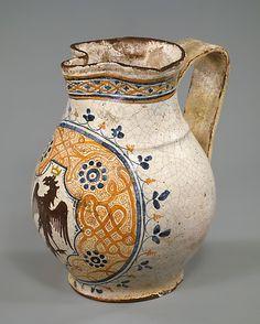 Armorial Jug (boccale)    Date:      late 15th century  Culture:      Italian, possibly Tuscany #TuscanyAgriturismoGiratola