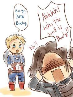 Cute Bucky and Steve comic