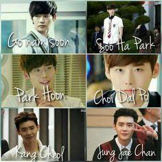 Lee Jong Suk's drama roles