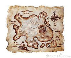 Vieille carte de trésor