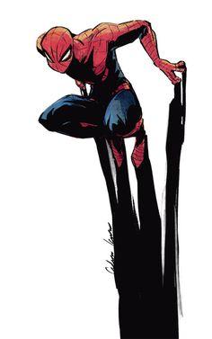 Quiero aprender a hacer un diseño propio de Spiderman, dandole un toque diferente como este