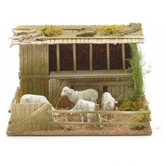 Establo con ovejas en movimiento 14x5x23x20cm | venta online en HOLYART Medieval Houses, Farm Fence, Baby Sewing, Diorama, Cribs, Nativity, Projects To Try, Christmas Decorations, Crafty