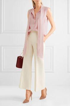 Max Mara - Pussy-bow washed-silk blouse. RopaAtuendos De ... b5495b52be7