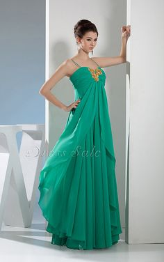 Ruched A-line Spaghetti Straps Floor-length Dress - Joydress.co.uk - 221 - pro - sz0401wd4623