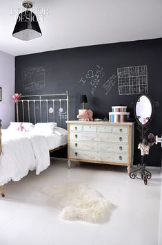 25 Amazing Chalkboard Wall Paint Ideas.  * :) oh the  memories of filling my parents clean walls with my crayon art  *
