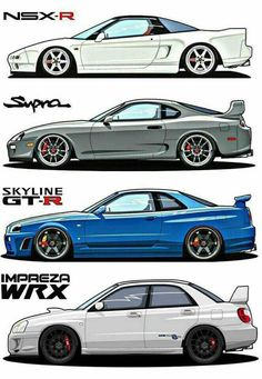i mean, i don't really agree with the wrx being placed next to all of those jdm coupes. would be more fitting next to an evo and an but no hate against wrx, all great cars. Toyota Supra, Tuner Cars, Jdm Cars, Slammed Cars, Cars Auto, Stance Nation, Sport Cars, Race Cars, Street Racing Cars