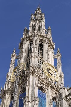 Antwerp architecture. Church. Cathedral. European architecture. Travel.