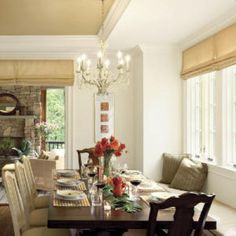 Build a Banquette if You're Short On Space in Your Dining Room