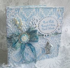 Vintage style shabby chic card