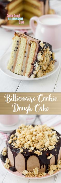Layers of moist vanilla cake, caramel sauce, and egg-free cookie dough. Amazing! Such a special and incredible cake.