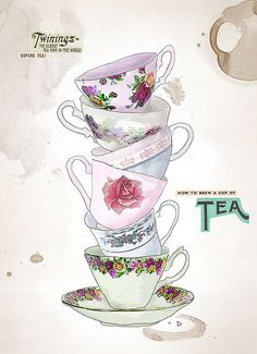 how to brew a cup of tea by illustrator Tabitha Emma
