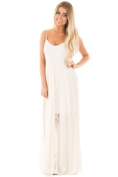 Lime Lush Boutique - Natural Maxi Dress with Lace Panel Detail, $24.95 (https://www.limelush.com/natural-maxi-dress-with-lace-panel-detail/)