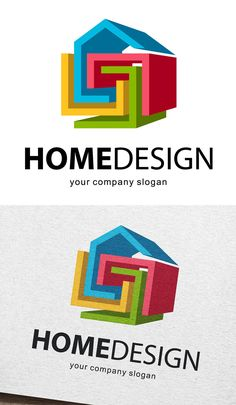Home Design Logo #logotemplate #logodesign #branding #visualidentity #concept #logos #customdesign #designers