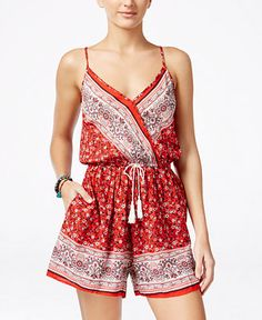 American Rag Printed Romper, Only at Macy's - Juniors Shorts - Macy's