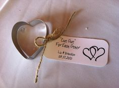 Adorable (and functional!) guest favors from Liz & Brandon's wedding at Meadow Ridge Events.