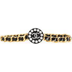 Chanel Vintage logo belt (28.765 ARS) ❤ liked on Polyvore featuring accessories, belts, black, logo belts, chanel, leather belt, real leather belts and 100 leather belt