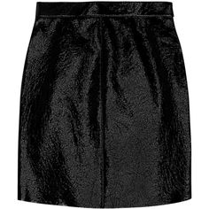 Saint Laurent Patent-leather mini skirt (31.618.620 IDR) ❤ liked on Polyvore featuring skirts, mini skirts, black, saint laurent, black mini skirt, mini skirt, zipper mini skirt, black zipper skirt and wet look skirt