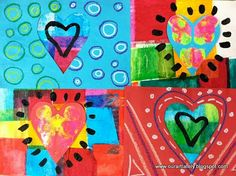 we heart art: heARTwork, project 2 (first grade)