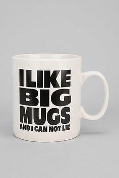 """Get this """"I like Big Mugs"""" Mug for only $11.90 with Honey. Original price: $14.00 PRICE WITH HONEY: $11.90  #HoneyFinds www.joinhoney.com"""