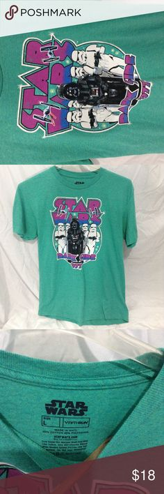 Star Wars Darth Vader Teal Color T-shirt No obvious flaws were found. See pictures for condition and size. Star Wars Tops Tees - Short Sleeve