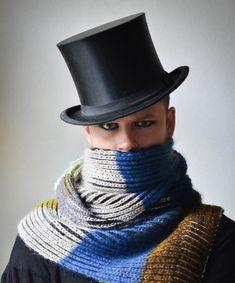 Stephen West striped scarf
