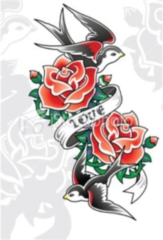 Rose Tattoos Designs, Red Rose, Black Rose, Heart And Rose Tattoo