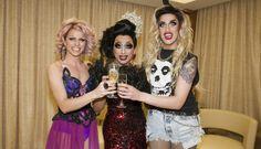 Courtney Act, Bianca Del Rio, and Adore Delano
