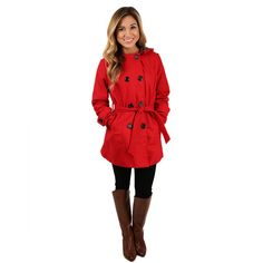 Stay glamorous all season in this lovely coat! With a cheetah lined hood and flattering fit, you're sure to look fabulous, and oh so cozy!