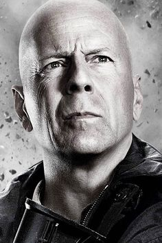 """Bruce Willis as Church in """"The Expendables 2"""", 2012 #actor"""