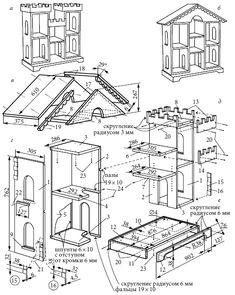 Кукольный домик своими руками из фанеры схема с размерами и
