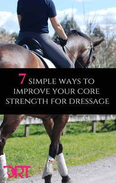 7 simple ways to improve your core strength for dressage. 7 simple ways to improve your core strength for dressage. Horse Exercises, Training Exercises, Horse Riding Tips, Riding Gear, Equestrian Outfits, Equestrian Fashion, Equestrian Style, Horse Training, Horse Care
