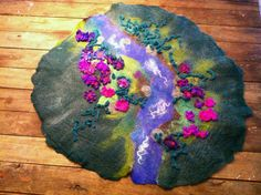 waldorf play rooms | LARGE Hand felted Waldorf Steiner pretend play story mat room decor ...