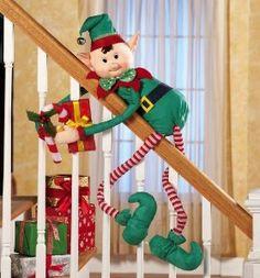 Amazon.com: Elvin Elf Bendable Hugger Christmas Decoration By Collections Etc: Patio, Lawn  Garden