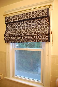 how to make a fabric covered roman shade
