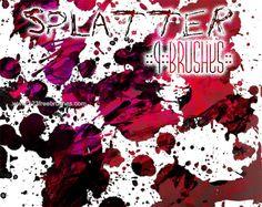 Splatter - Download  Photoshop brush https://www.123freebrushes.com/splatter/ , Published in #GrungeSplatter. More Free Grunge & Splatter Brushes, http://www.123freebrushes.com/free-brushes/grunge-splatter/ | #123freebrushes