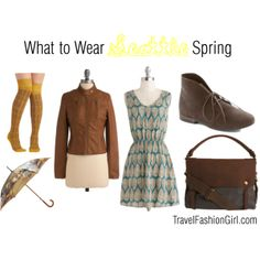 What to Wear in Seattle: Spring by travelfashiongirl, via Polyvore