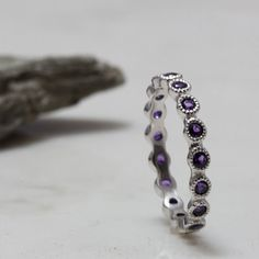 Life Boho Sterling Silver Clasp FREE SHIPPING Sterling Silver Concha Brown Leather Amethyst Bracelet Silver Amethyst Cabochon Bracelet