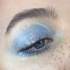 ✧・゚. theangrydinosaur ✧* - Magical blue! It's so so beautiful! Real inspiration! Stylish and original! And this black, bushy eyebrow is so pretty!