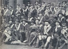 The Irish Brigade who fought alongside the Boers against the British army in the Anglo-Boer War. John Blake is sitting in the front row to . World History, World War, Fight For Freedom, African History, British Army, Military History, Live, South Africa, Illustration