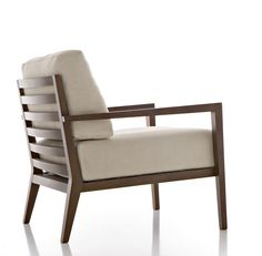 Contemporary armchair / in wood - EOS by Edi & Paolo Ciani - Fornasarig