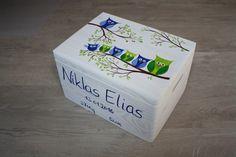 Kisten & Boxen - Spitzbub Erinnerungskiste - Eulenfamilie - ein Designerstück von Spitzbub bei DaWanda