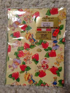 80s Vintage Strawberry Shortcake Gift Wrap Unopened Collectors Item | eBay