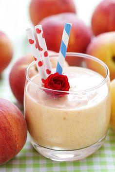 Mango Peach Smoothie Recipe  Ingredients Serves 2    1 peach, sliced   1 mango, peeled and diced   1⁄2 cup vanilla soy milk   1⁄2 cup orange juice, or as needed