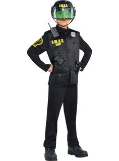 Totally arresting looks! Shop for police costumes for kids and adults, sexy cop costumes for women, and SWAT and prisoner outfits. Swat Halloween Costume, Sexy Cop Costume, Swat Costume Kids, Army Costume, Boy Costumes, Costumes For Women, Children Costumes, Costume Ideas, Kids Police