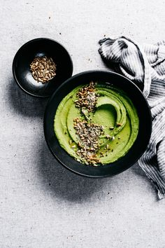 Green Pea Hummus from First We Eat | TENDING the TABLE
