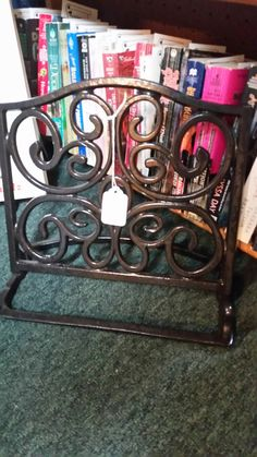 Wrought iron cookbook holder, (black) Booth 238