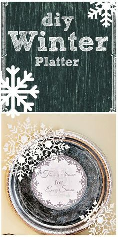 diy #winter platter. #Valueseekersclub. Make one yourself, free #Printable available.