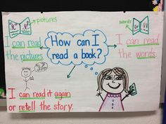 How to read a book chart. Kreative in Kinder