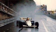 Senna Toleman Montecarlo 1984: in questo GP mise in luce il suo talento arrivando 2° al termine di una gara bagnata interrotta prima del previsto