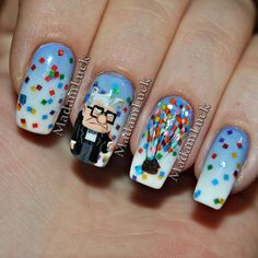 Have you discovered your nails lack of some stylish nail art? Yes, recently, many girls personalize their nails with lovely … Fancy Nails, Love Nails, Pretty Nails, My Nails, Disney Nails, Disney Acrylic Nails, Disney Inspired Nails, Cute Nail Art, Nagel Gel